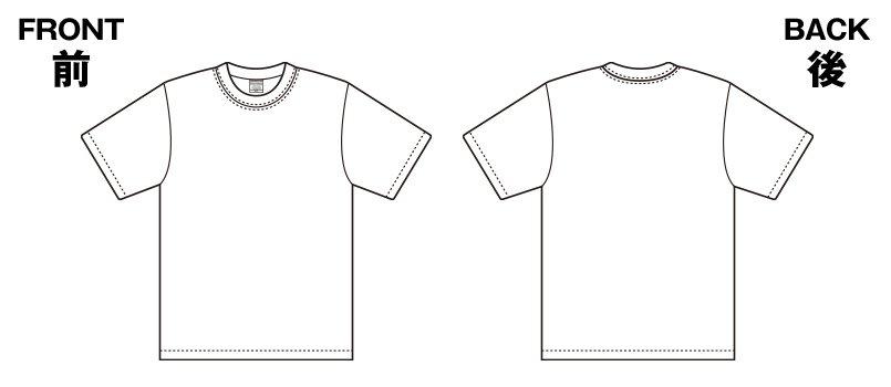 85-5942 ハイグレードTシャツ(6.2オンス)のハンガーイラスト・線画