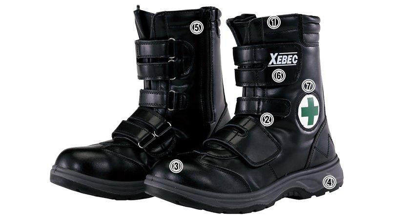 ジーベック 85105マジックテープ安全靴 樹脂先芯のこだわりポイント