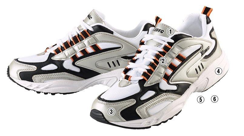 ジーベック 85803靴 静電スポーツシューズ 先芯なしのこだわりポイント