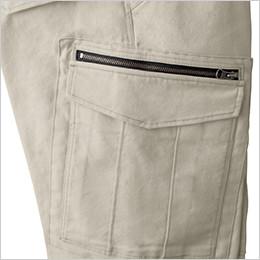 右 ファスナー付きポケット