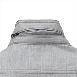 インフード仕様の衿ファスナー