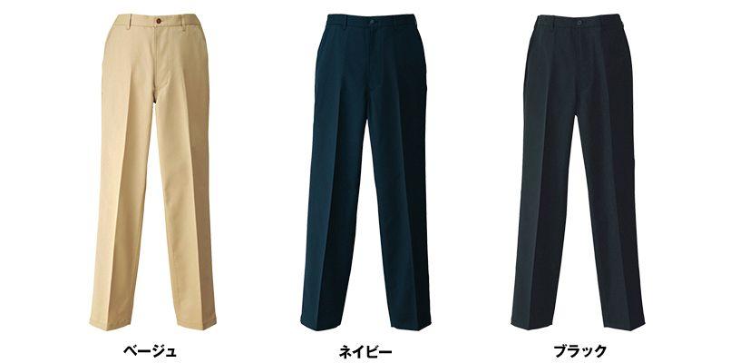 HS2604 アイトス ノータックチノパン(男性用) 色展開