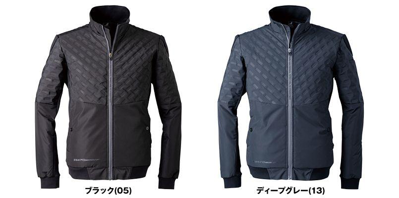 9470 アイズフロンティア 発熱エンボス防寒ジャケット 色展開