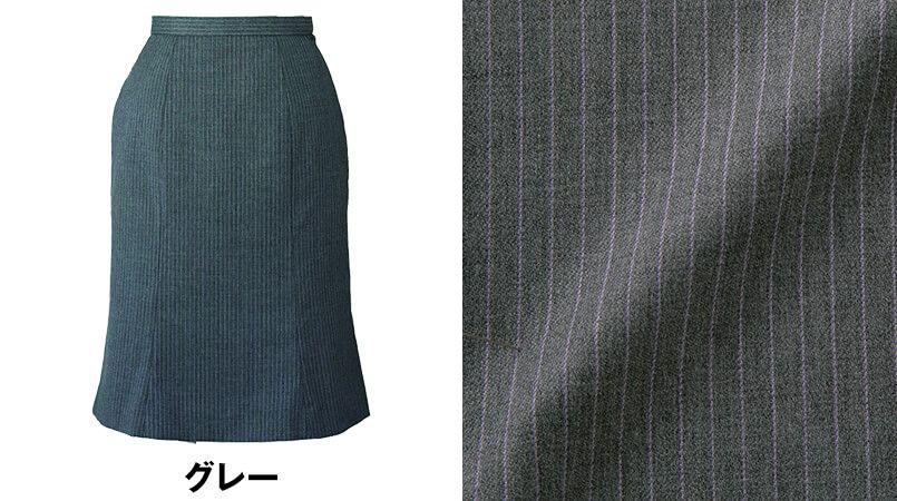 en joie(アンジョア) 51492 [通年]シックなグレーに映えるラベンダーストライプのマーメイドスカート 色展開