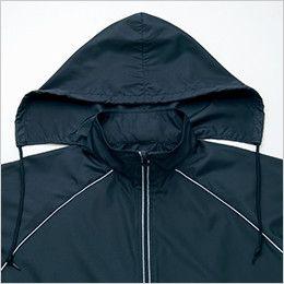 AZ2202 アイトス リフレクトジャケット(男女兼用) 収納できるフード