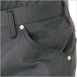AZ64120 アイトス Wrangler(ラングラー) ノータックワークパンツ(男女兼用) 両脇 ポケット