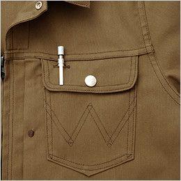 AZ64201 アイトス Wrangler(ラングラー) ジップアップジャケット(男女兼用) 左胸 ペン差しポケット付
