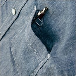 AZ64437 Wrangler(ラングラー) 半袖シャツ(男女兼用) ペンなどが出し入れしやすい便利なペン差し付きポケット