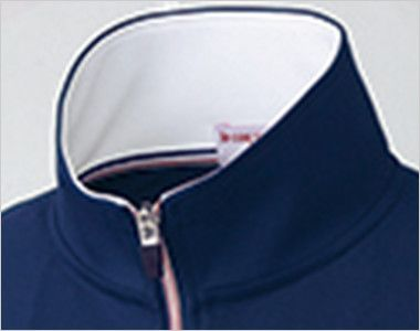 UZL1026 ルコック ジャージ ジャケット(男女兼用) トリコロールカラーの襟伏せテープがアクセントに