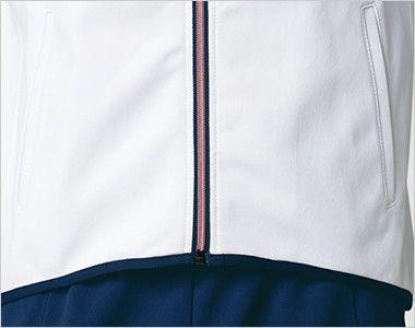 UZL1026 ルコック ジャージ ジャケット(男女兼用) 前傾姿勢のときの動きを妨げないすっきりシェイプの前裾ライン