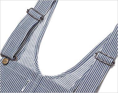 LWU39002 Lee オーバーオール(男女兼用) オーバーオールの特徴である調節可能な肩ひも