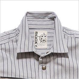 RS4302 ROCKY ワークシャツ(女性用) 角ばったデザインが印象的なデザイン