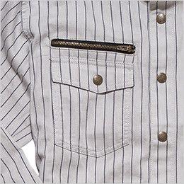RS4302 ROCKY ワークシャツ(女性用) ファスナー付き