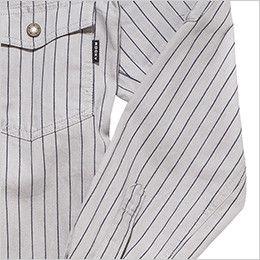 RS4302 ROCKY ワークシャツ(女性用) 腕の上げ下げがしやすい切り替えデザイン
