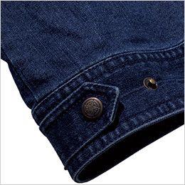RV1901 ROCKY デニムフライトベスト(男女兼用) 腰回りのサイズ調整が可能な裾アジャスター付き