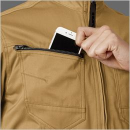 バートル 1711 [春夏用]T/Cライトチノ長袖ジャケット(男女兼用) Phone収納ループ付きポケット