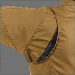 バートル 1711 [春夏用]T/Cライトチノ長袖ジャケット(男女兼用) 背アームノーフォークメッシュ・袖アームタック