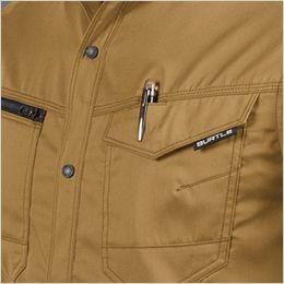 バートル 1715 T/Cライトチノ長袖シャツ(男女兼用) ペン差し付き