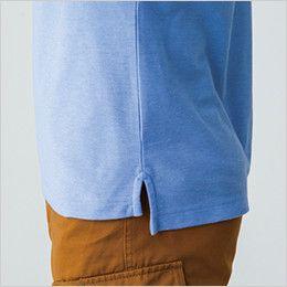 バートル 507 カノコ半袖ポロシャツ(男女兼用)[左袖ポケット付] スリット