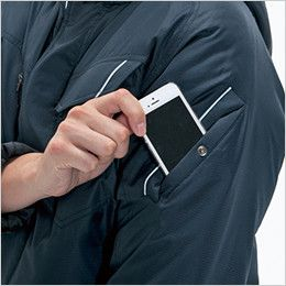 バートル 7210 サーモトロン防寒ブルゾン(大型フード付)(男女兼用) ポケット(リフレクターデザイン)