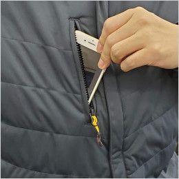 バートル 7410 [秋冬用]防風ストレッチ軽量防寒ブルゾン(男女兼用) ファスナーポケット