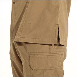 バートル 8035 チノクロス長袖シャツ(綿100%)(男女兼用) スリット