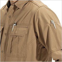 バートル 8093 [春夏用]綿100%ライトチノ長袖シャツ(男女兼用) ペンさし