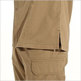 バートル 8093 [春夏用]綿100%ライトチノ長袖シャツ(男女兼用) スリット