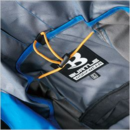 AC1094 バートル エアークラフト[空調服] パーカーベスト(男女兼用) 衣服内の空気循環をよくするために風の流れ道を調節します