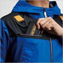 AC1096 バートル エアークラフト[空調服] パーカー半袖ジャケット(男女兼用) バッテリー収納ポケット、ファスナー止め、コードホール付き