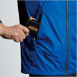 AC1096 バートル エアークラフト[空調服] パーカー半袖ジャケット(男女兼用) バッテリー収納ポケット、ファスナー止め※特許取得済