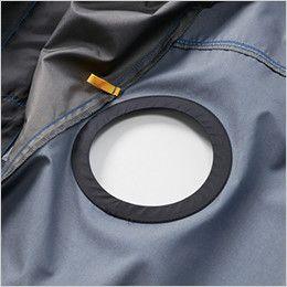 AC1096 バートル エアークラフト[空調服] パーカー半袖ジャケット(男女兼用) ファン取付口