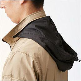AC1111PSET バートル エアークラフトセット[空調服]迷彩 長袖ジャケット(男女兼用) ポリ100%  収納式フード(スピンドル付き)(全色ブラック)