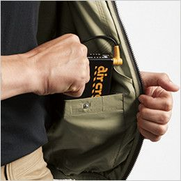 [在庫限り]バートル AC1121SET エアークラフトセット[空調服] ハーネス対応 長袖ブルゾン(男女兼用) ポリ100% バッテリー収納ポケット(ドットボタン止め)