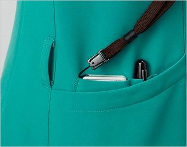 MZ-0151 ミズノ(mizuno) レディースジップ付きスクラブ(女性用) PHSポケット・ペン差しポケットで便利