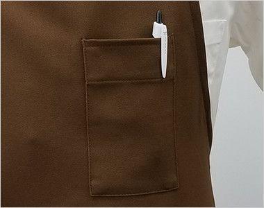 T-8091 チトセ(アルベ) 胸当てエプロン(男女兼用) ペン差しポケット付き