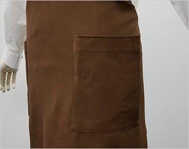 T-8091 チトセ(アルベ) 胸当てエプロン(男女兼用) ポケット付き
