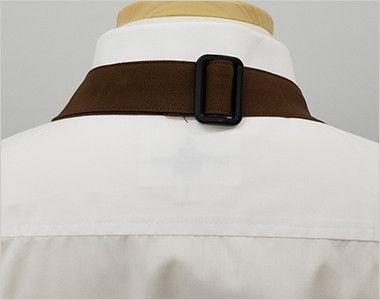 T-8091 チトセ(アルベ) 胸当てエプロン(男女兼用) サイズ調節可能なバックル付き