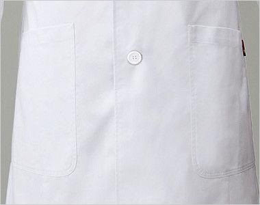 1538PP FOLK(フォーク)×Dickies ドクターコート デニム風パイピング(男性用) 両腰ポケット/右腰内ポケット