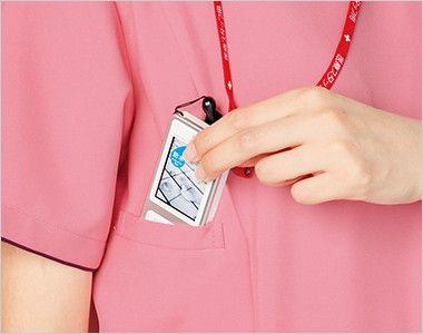 7024SC FOLK(フォーク) レディス ジップスクラブ(女性用)  機能的なPHSポケット