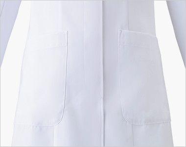 HI400 ワコール レディースドクターコート シングル(女性用) ポケット付き