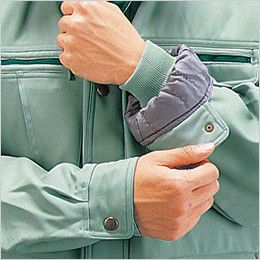 自重堂 48073 ドカジャン 制電防寒コート(襟ボア仕様) ジャージ仕様(筒袖タイプ)