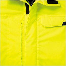 自重堂 48473 高視認性安全服 防水防寒コート(フード付) 前立防水折り返し仕様