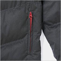 自重堂JAWIN 58400 マルチストレッチ防寒ジャンパー(フード付)[刺繍NG](新庄モデル) 脇ファスナーポケット
