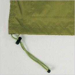 7540 カジメイク アドベントレインスーツ(上下セット)(男女兼用) ジャケットの裾幅を調節するストッパー付きドローコード