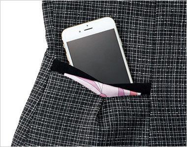EAV684 enjoy 大人テイストに着こなせるツイード調の愛らしいベスト 大容量ポケット