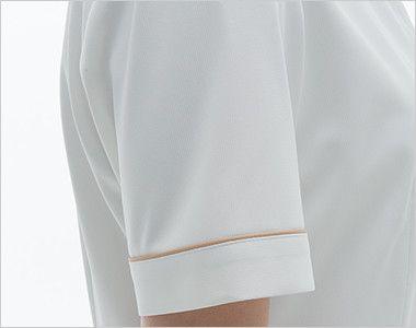 LH6252 ナガイレーベン(nagaileben) ビーズベリー チュニック半袖(女性用) 女性らしい優しさを感じさせるかわいい袖