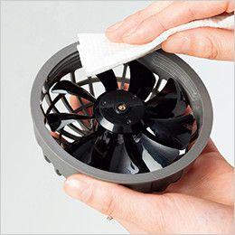 14001 G・GROUND サイクロンエアー ファンセット(ファン2個、コード1本) ファンは取り外してさっと拭くだけで長く清潔に使えます