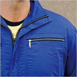 39017 桑和 半袖つなぎ 続服 ファスナーポケット