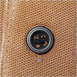 5105 TS DESIGN ワークニットロングポロシャツ(男女兼用) 金属ボタン